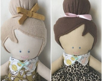 Peter-pan collar, doll accessory, fabric doll accessories, Handpicked by ruby doll accessories
