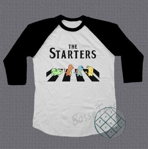 The Starters Pokemon Shirt Baseball Tee Raglan Tshirt Unisex