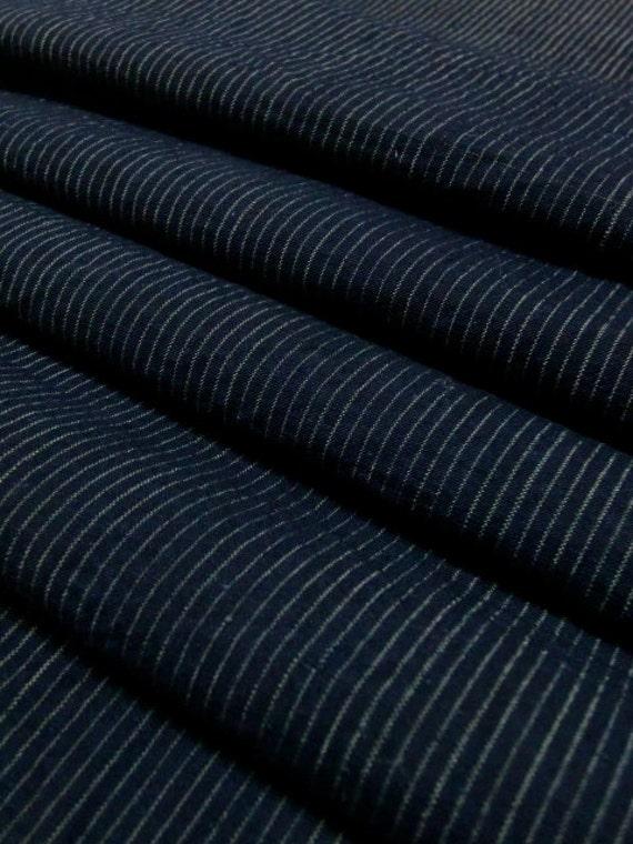 vintage Japanese indigo fabric SHIMA
