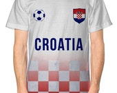 Croatia Football Nation Fade Tshirt Mens Shirt Jersey World Cup Euros Fan Modric