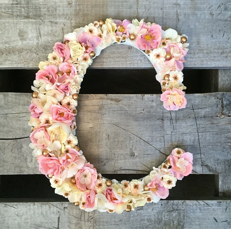 floral letter flower letter letter nursery letter wedding