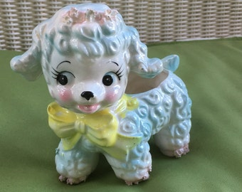 SALE!! Vintage Samson 1961 Ceramic Baby Lamb Planter - Made in Japan