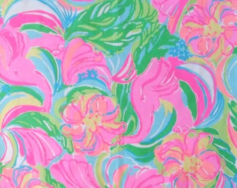 Customize My Applique with this Lilly Pulitzer Print / So A Peeling Print and Coordinating Threads