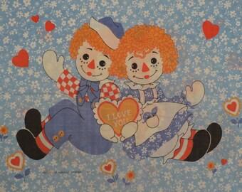 Vintage Raggedy Ann standard pillowcase