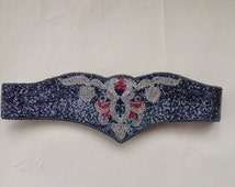 Vintage 80's Beaded Waist Cinch Trophy Top Belt for Dress or Sweater Size Small Waist to 28