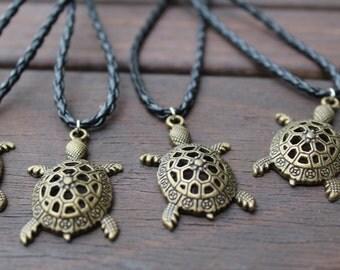 Bronze Turtle Necklace