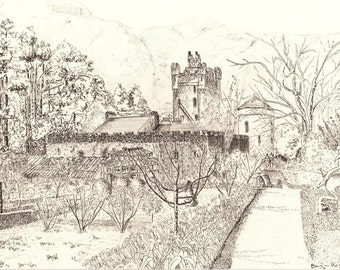 Glenveagh Castle Drawing 3