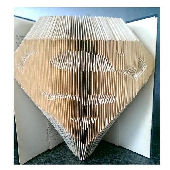 Book Folding Pattern Superman Bookami 569 Pages/285