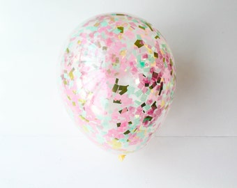 CONFETTI / CONFETTI BALLOONS / Baby Shower / Wedding / Birthday Party / 1st Birthday / baby / party supplies / party decor / balloons