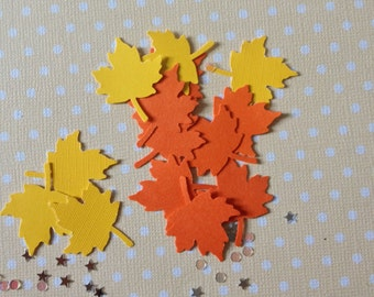 Oak or Maple Leaves Party Confetti