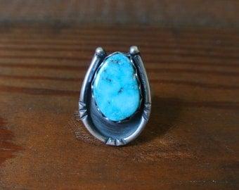 Kingman Turquoise Ring - Size 7.25