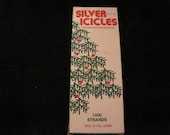 "Vintage Silver Icicle Strands In Box Essex Franke Company 18"" Long"