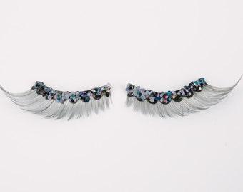 Silver glitter lashes