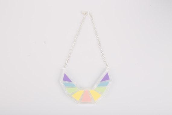 Pastel Collar Acrylic Necklace
