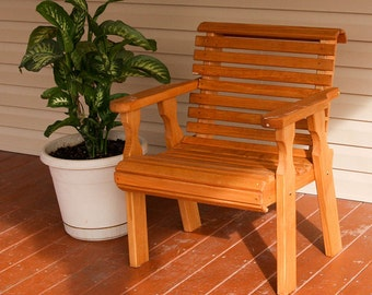 Amish Heavy Duty 600 Lb Roll Back Pressure Treated Patio Chair