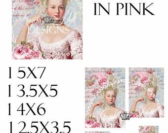 Marie in Pink 2 Sheet Digi Photo Set