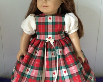 Hearts Dress for American Girl or 18 inch doll
