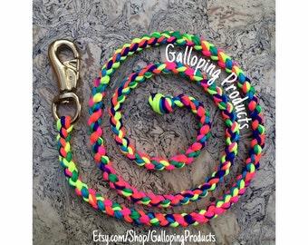 Pre-made Neon Tie Dye Lead Rope