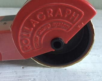 Rubber Stamper Rollagraph Stars Stamp with Ink