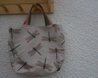 Dragonfly Tote bag - short handles