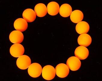 Neon Green, Pink, Orange, or Yellow Stretch Bracelet