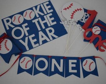 Baseball Birthday Decor, Baseball Birthday Party Pack, Baseball Theme Birthday Decor, 1st Birthday Decor, Birthday Decor