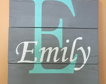 Personalized wood signs, Custom wood sign, wood signs, hand painted wood signs, wooden sign for kids room, Wood name sign
