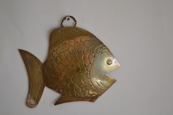 Vintage Nautical Wall Decor: Nautical Home Decor Vintage Brass Wall Hanging Fish By