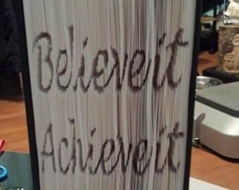 Dream Believe Achieve Pattern