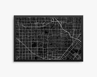 Santa Ana City Street Map, Santa Ana California USA, Modern Art Print, Office Decor, Decor, Santa Ana Decor, Santa Ana Map, Santa Ana Poster