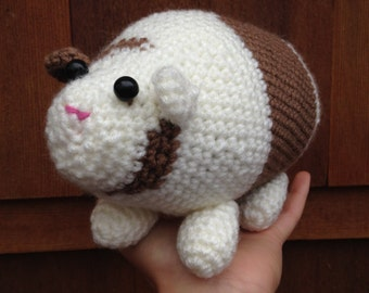 Handmade crochet guinea pig- stuffed animal guinea pig- knit plush guinea pig- handmade chubby guinea pig- stuffed toy guinea pig
