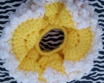 Yellow Ruffle Hair Scrunchie