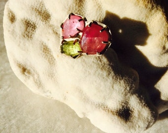 PRETTY in PINK SAPPHIRES and Sterling Silver Ring