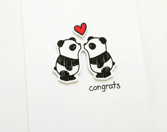Panda engagement card
