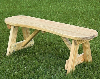 Curved Benches Etsy