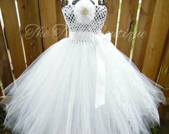 Flower Girl Tutu Dress, Wedding, Cute Dress up Dress, Gift, Birthday Tutu Dress, Special Occasion Dress, Tutu Dress