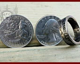 Bicentennial 1776-1976 Quarter Coin Ring