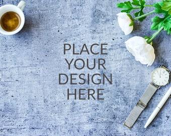 Styled Photography, Feminine Mockup, Product Mockup, Digital Background, Fashion Mockup, Instant Download, Concrete Styled Photo