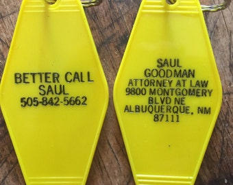 """Better Call Saul inspired """"Saul Goodman Attorney At Law"""" keytag"""