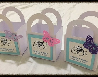 Butterfly Party Favor Boxes color Party Favours Set of 10 Bridal Shower Gift Boxes Wedding Birthday Party Favors