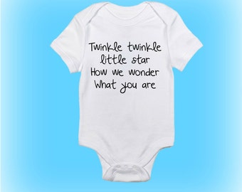 Unique Baby Gift - Baby Shower Gift - Baby Onesie®- Twinkle Twinkle - Gender Reveal Onesie - Baby Boy-Baby Girl-Baby Gift Idea-Baby Clothing