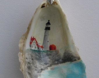 Portland Headlight Oyster Shell Ornament