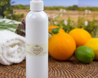 Unscented certified organic Shampoo or Body Wash-great lather!