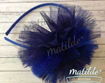 Hair Flower, Hair Clip, Flower Hair Clip, navy Flower Hair Clip, hair accesories
