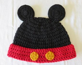 Bonnet Mickey customizable hook hand made.