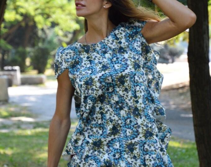 Plus Size Extravagant Maxi Tunic, Extravagant Flowers Tunic, Oversize Neoprene Summer Dress by SSDfashion