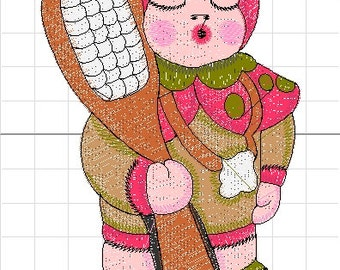 Ladybug girl similar thun machine embroidery