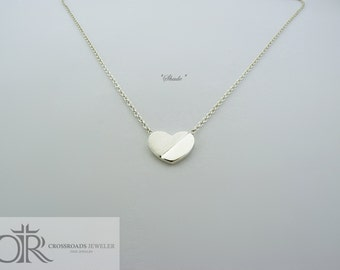 "heart necklace - ""shade"""
