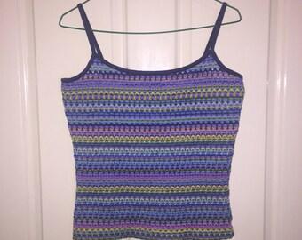 90's Summer Fluro Knit Singlet