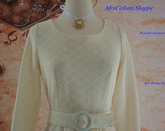 Vintage 1960's Dovovan Galvani A-Line Polyester Scoop Neck Size 12
